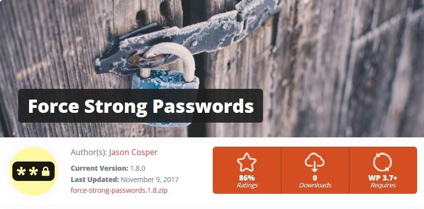 Extension Force Strong Passwords pour obliger les utilisateurs à utiliser de forts mots de passe