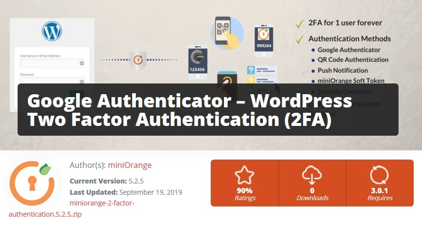 Plugin Google Authenticator pour authentification à deux facteurs dans WordPress