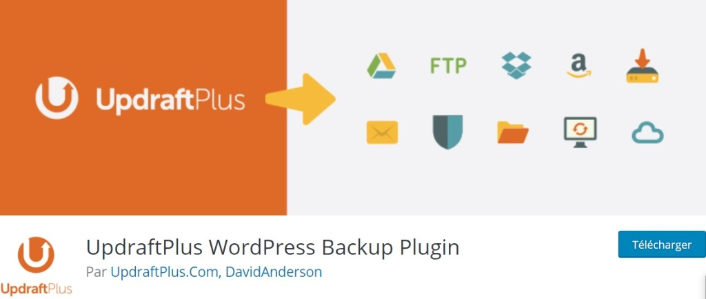 UpdraftPlus pour sauvegarder et restaurer WordPress