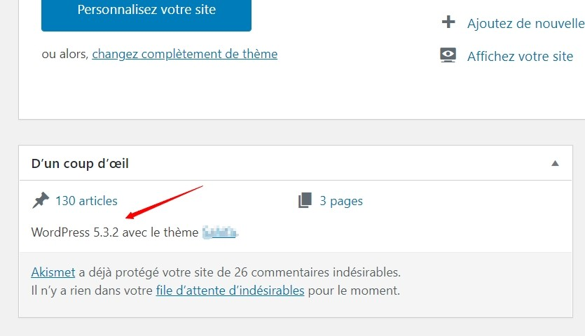 La version de WordPress utilisée