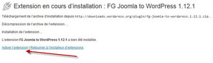 Activation FG Joomla