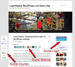 extension login-radius pour médias sociaux