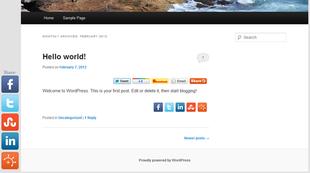 plugin sharexy pour médias sociaux
