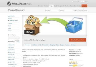 extension wordpress ecommerce eshop