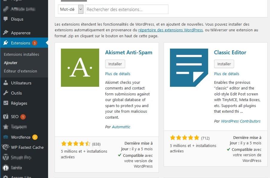 installation plugin WordPress